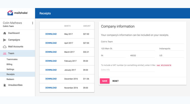 automate receipts invoices for stripe
